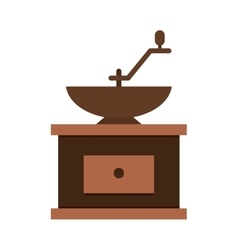Grind machine coffee icon vector image
