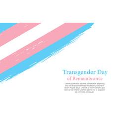 Grunge styled brush stroke flag of transgender vector