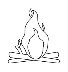isolated bonfire icon image vector image