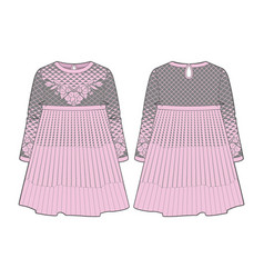 knitted pink dress vector image