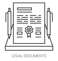 Legal documents line infographic vector image