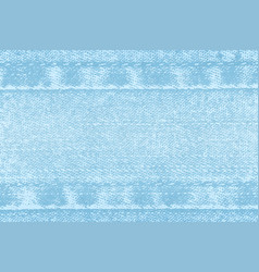 light background of denim fabric with seams vector image