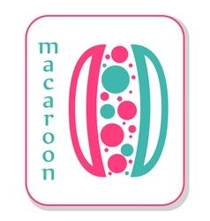 Macaroon icon vector