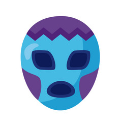 Mexican mask fighter detaild style icon vector