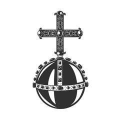 Monarch orb heraldic symbol vector
