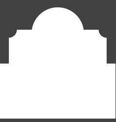 Mosque window icon vector