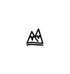 mountain snow icon winter template vector image
