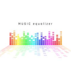 music equalizer dynamic volume vector image