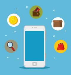 online shopping e-commerce concept vector image