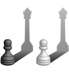 pawns to queens vector image