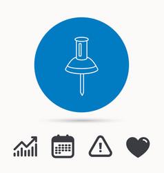 pushpin icon pin tool sign vector image