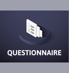 questionnaire isometric icon isolated on color vector image