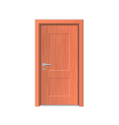 realistic detailed 3d wooden door isolated on a vector image