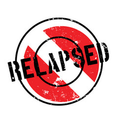 relapsed rubber stamp vector image