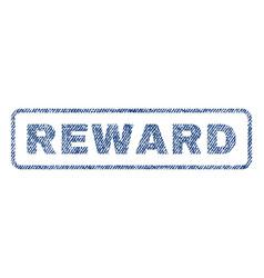 Reward textile stamp vector