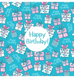 Seamless pattern Happy Birthday vector image