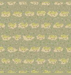 seamless pattern of crocodile vector image