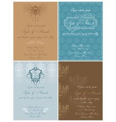 set beautiful vintage cards vector image