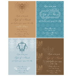 Set of Beautiful Vintage Cards vector image