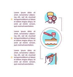 Skin cancer diagnostics concept icon with text vector