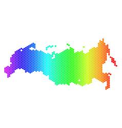 Spectrum hexagon russia map vector