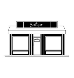 Store shop building in black and white vector