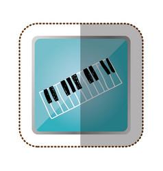 Symbol piano instrument icon vector