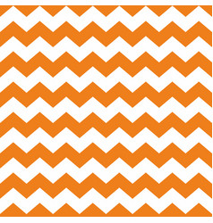 Tile chevron pattern with orange and white zig zag vector