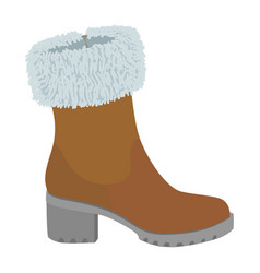 top winter shoe icon flat style vector image