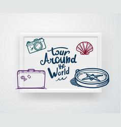 tour around world concept vector image