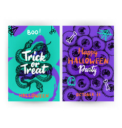 trick or treat flyer template vector image