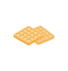 Waffle icon isometric 3d style vector