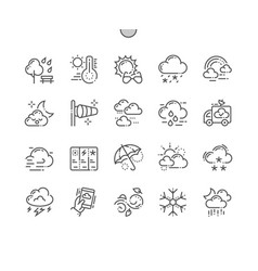 Weather well-crafted pixel perfect thin vector