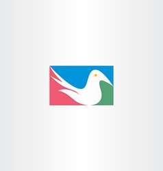 White dove logo icon design vector