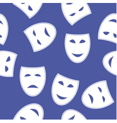 white masks seamless pattern vector image