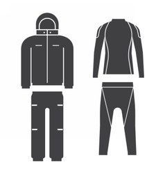 Winter Sport Suit vector