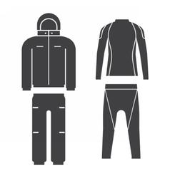 Winter Sport Suit vector image