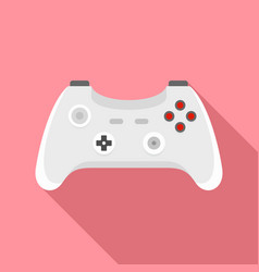 wireless gamepad icon flat style vector image