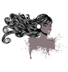 Woman with Long Hair4 vector image