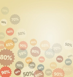 Yellow Discount Background vector image