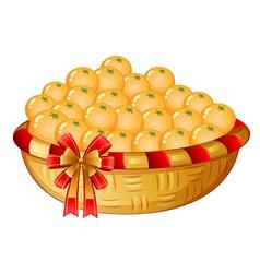 A basket of oranges vector image