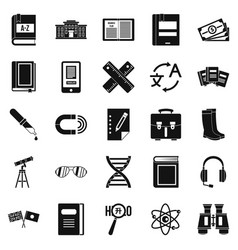 ability icons set simple style vector image