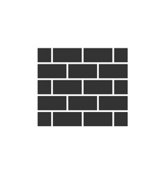 brick wall black icon vector image vector image