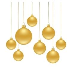 christmas background wih balls vector image