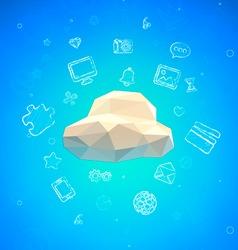 Cloud Lowpoly vector image