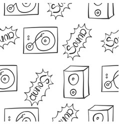 Collection of music sound doodles vector