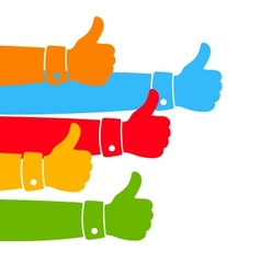Like and Thumbs Up vector image vector image