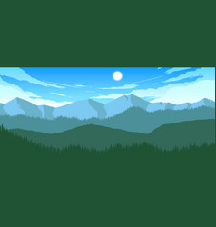 Mountains and hills landscape vector