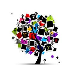 photo frames tree vector image