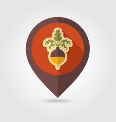 Rutabaga or swede flat pin map icon vegetable vector